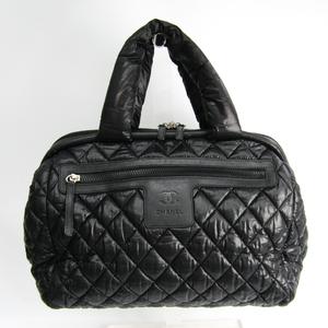シャネル(Chanel) ココ・コクーン キルティング レディース ナイロン,レザー ボストンバッグ,ハンドバッグ ブラック