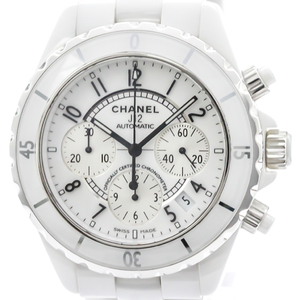 【CHANEL】シャネル J12 クロノグラフ セラミック 自動巻き メンズ 時計 H1007