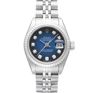 ロレックス(Rolex) デイトジャスト 自動巻き ステンレススチール(SS),ホワイトゴールド(WG) レディース 高級時計 69174G