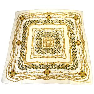 シャネル(Chanel) シルク スカーフ アイボリー