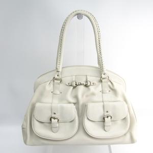 クリスチャン・ディオール(Christian Dior) レディース レザー ハンドバッグ ホワイト
