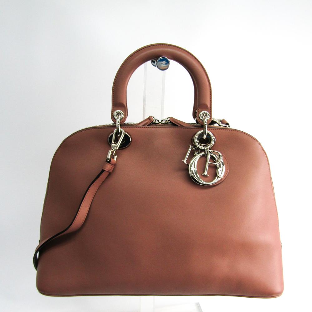 クリスチャン・ディオール(Christian Dior) レディース レザー ハンドバッグ,ショルダーバッグ ベージュピンク,パープル