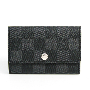 Louis Vuitton Damier Graphite 6 Key Holder N62662 Men's Damier Graphite Key Case Damier Graphite