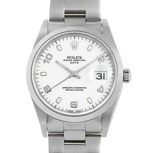 ロレックス(Rolex) オイスターパーペチュアル デイト 自動巻き ステンレススチール(SS) メンズ ドレスウォッチ 15200