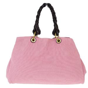 ボッテガ・ヴェネタ(Bottega Veneta) キャンバス,レザー トートバッグ ピンク