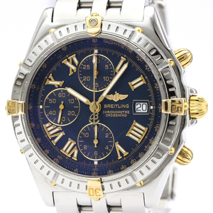 BREITLING Crosswind 18K Gold Steel Automatic Mens Watch B13355