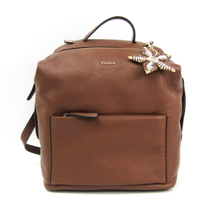 Furla With Daphne Charm Women's Leather Backpack Brown