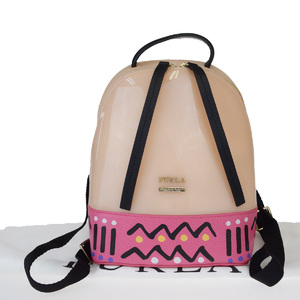 Furla Candy Rubber,Leather Backpack Pink