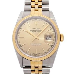 ロレックス(Rolex) デイトジャスト 自動巻き ステンレススチール(SS),イエローゴールド(YG) メンズ 高級時計 16233