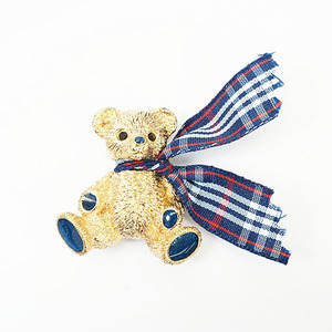 Auth Burberry Burberrys Of London Brooch Bear Motif Gold Plating