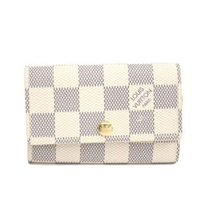 Louis Vuitton Damier Azur Women's Damier Azur Key Case Azur N61745 6 Key Holder
