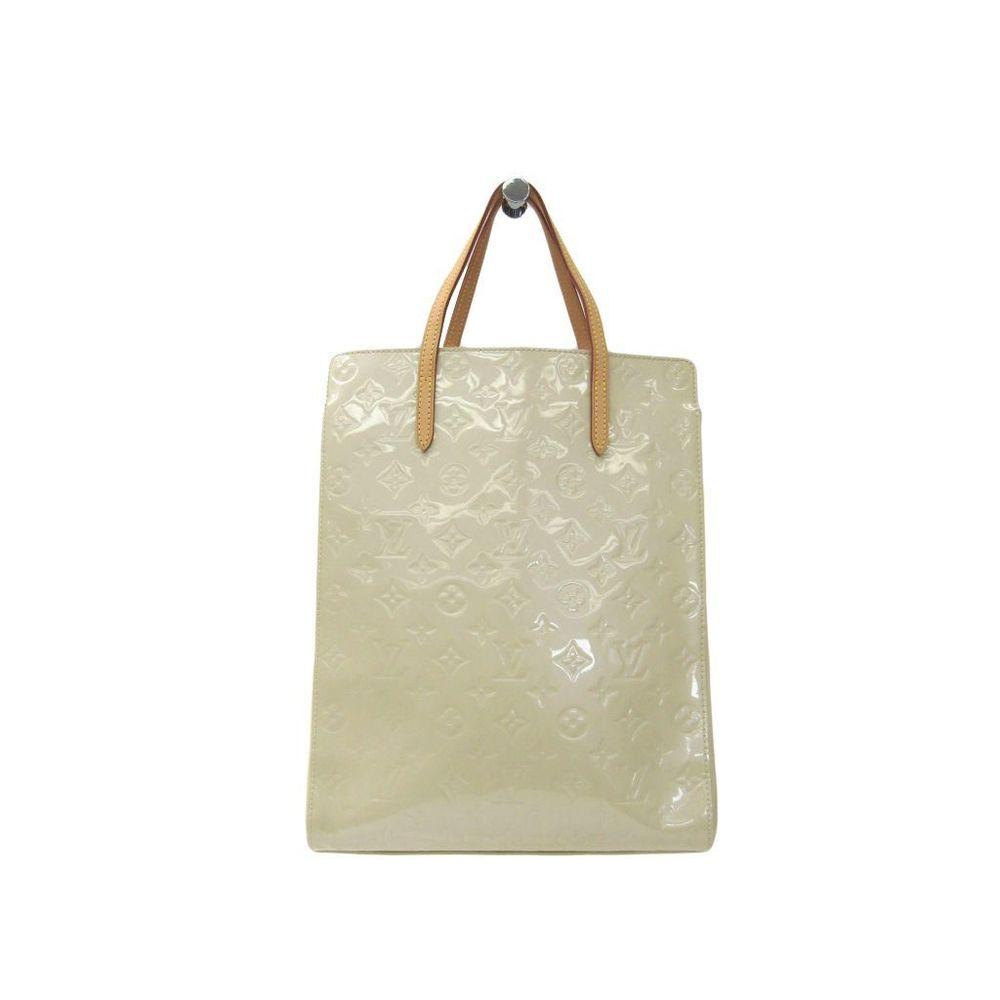 Louis Vuitton Monogram Vernis Catalina NS M90012 Women's Tote Bag Blanc Corail