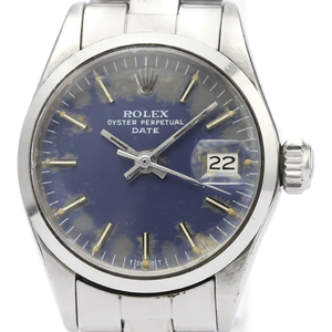 ロレックス(Rolex) オイスター・パーペチュアル・デイト 自動巻き ステンレススチール(SS) レディース ドレスウォッチ 6516