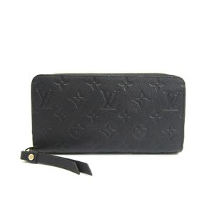 Louis Vuitton Monogram Empreinte Zippy Wallet M60571 Women's Long Wallet (bi-fold) Noir
