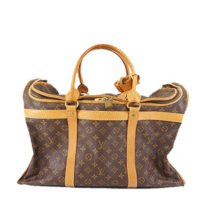Louis Vuitton Monogram Sakshan55 M42020 Unisex Men Women Boston Bag Handbag Brown