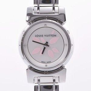 LOUIS VUITTON Louis Vuitton Tambour Bijou Petal Q1512 Ladies SS Watch Quartz White Shell Dial