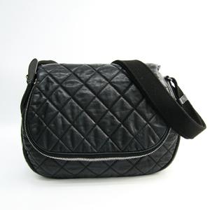 シャネル(Chanel) マトラッセ ココマーク A66507 レディース レザー,ナイロン ショルダーバッグ ブラック