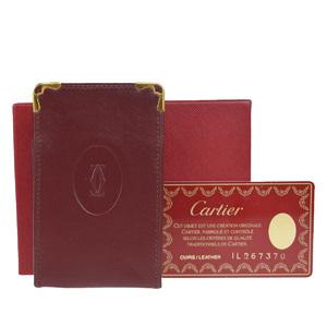 カルティエ(Cartier) コレクション・レ・マスト タバコケース レザー ボルドー