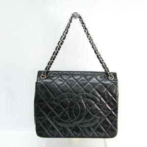 シャネル(Chanel) マトラッセ ココマーク チェーン レディース レザー ショルダーバッグ ブラック