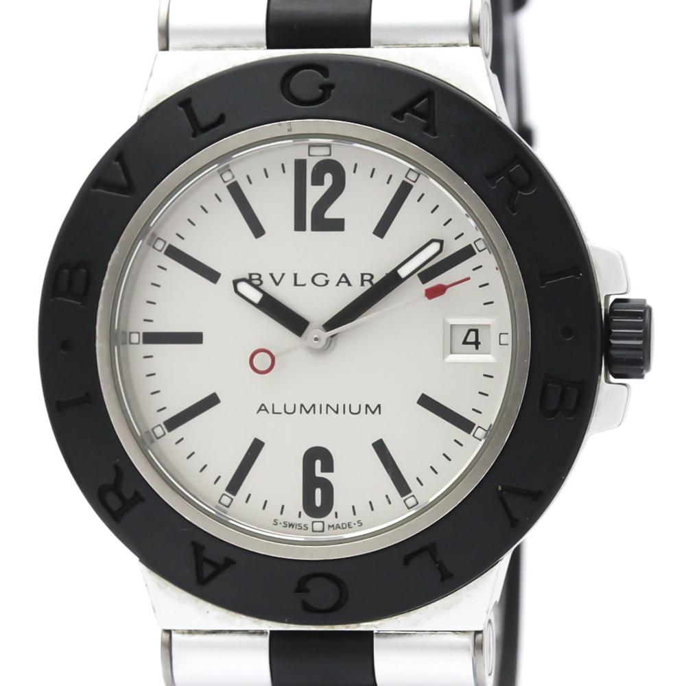 【BVLGARI】ブルガリ アルミニウム ラバー 自動巻き メンズ 時計 AL38TA