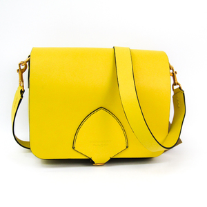 Burberry 4073124 Women's Leather Shoulder Bag Yellow