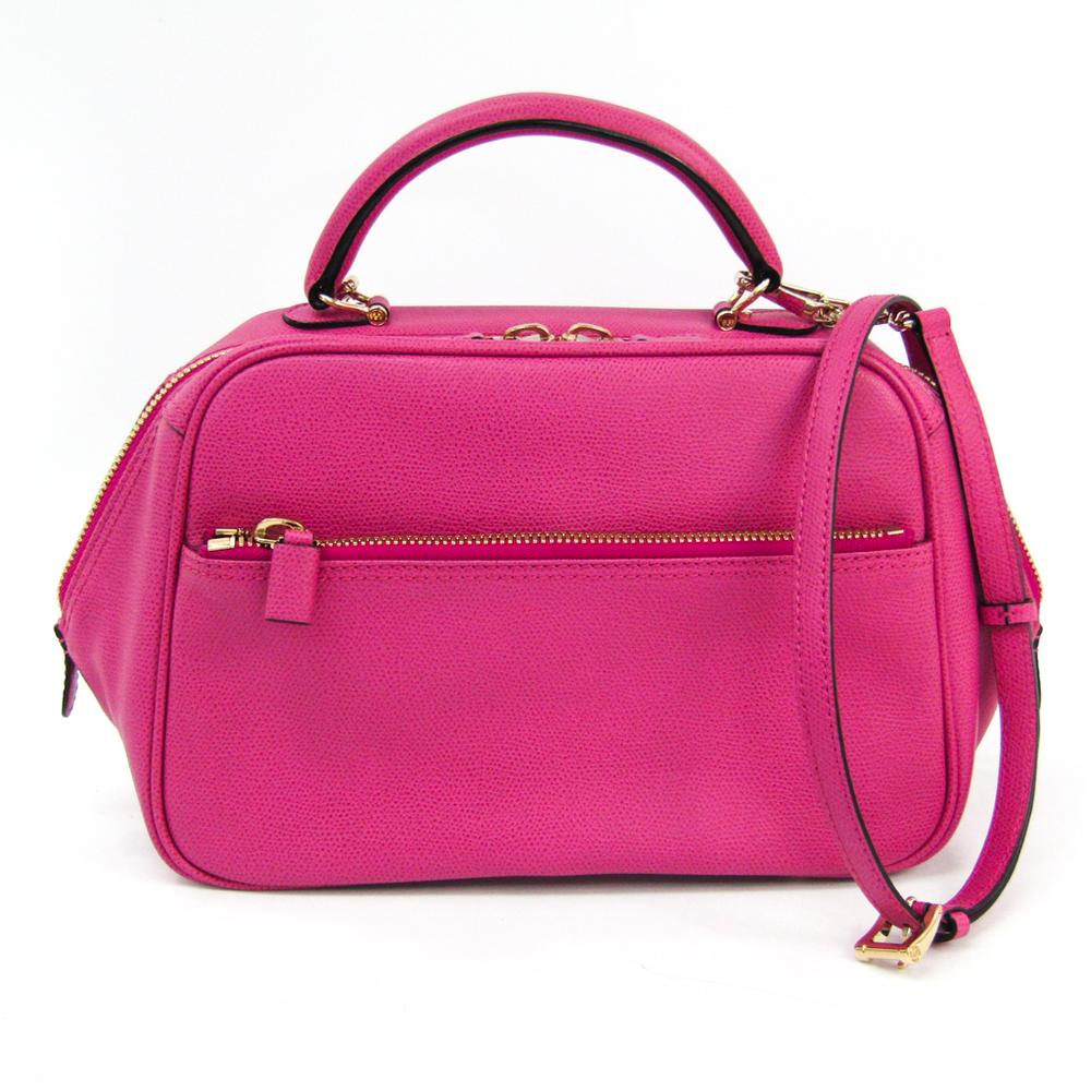 Valextra B Cube V5C67 Women's Leather Handbag,Shoulder Bag Pink