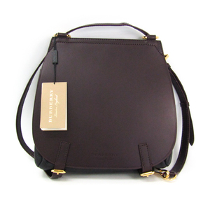 Burberry RUNWAY BRIDLE SML ZBG 40455331 Women's Leather Backpack,Shoulder Bag Black,Wine