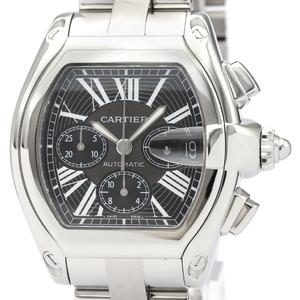 【CARTIER】カルティエ ロードスター クロノグラフ ステンレススチール 自動巻き メンズ 時計 W62020X6