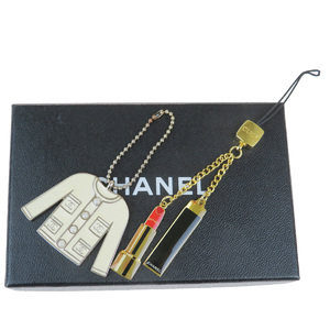 Chanel 2 Sets Bag Charm Fashion Keyring (Gold,Silver)