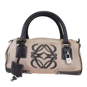 Loewe Suede,Leather Handbag Beige