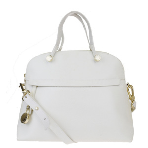 Furla 2WAY Leather Handbag Ivory