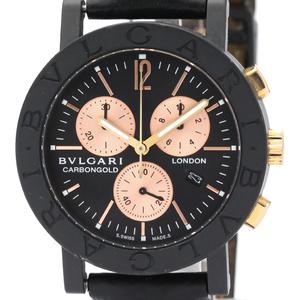 Bvlgari Bvlgari Bvlgari Quartz Carbon,Pink Gold (18K) Unisex Sports Watch BB38CLCH