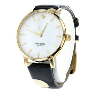 Kate spade watch New York Metro design 0073 stainless steel leather black Ladies Spade K90723092