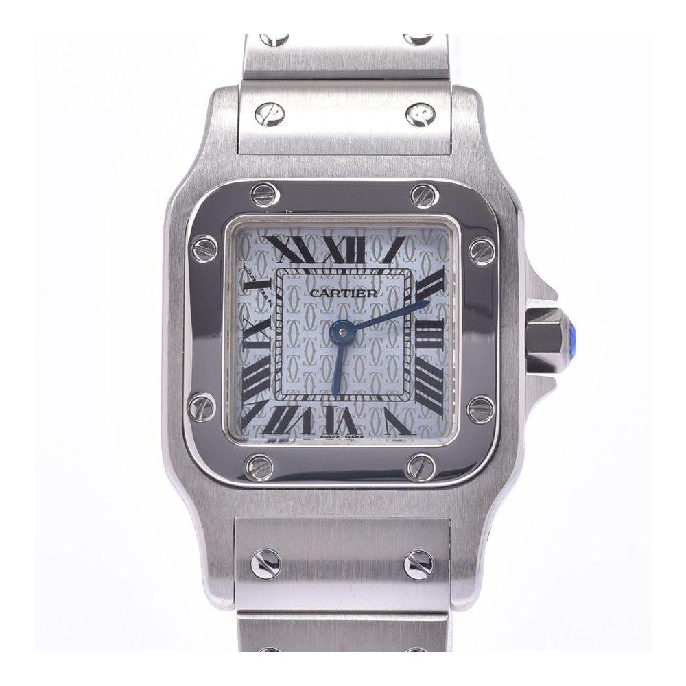 CARTIER Cartier Santos Galve SM Ladies SS watch quartz 2C logo dial