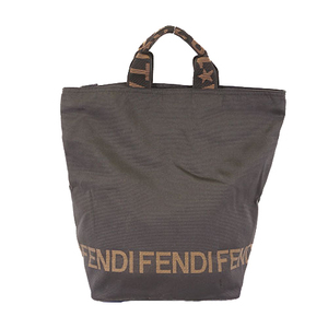 Fendi tote Bag Women's Nylon Canvas Tote Bag Black
