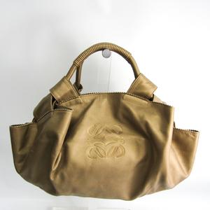 Loewe Nappa Aire Women's Leather Handbag Gold