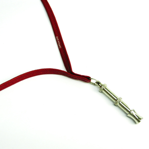 Hermes Whistle For Dog Dog Whistle Leather Metal Red Color,Silver