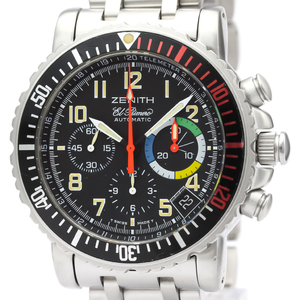 Zenith Rainbow Automatic Stainless Steel Men's Sports Watch 02.0480.405
