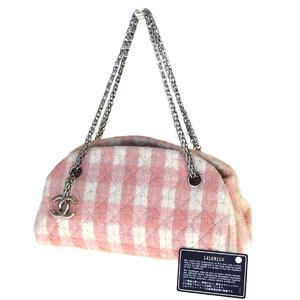シャネル(Chanel) CClogo チェーン パイル ショルダーバッグ ピンク