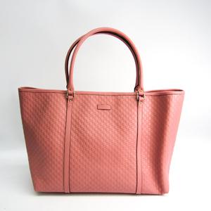 グッチ(Gucci) マイクログッチッシマ 449648 レディース マイクロGGレザー トートバッグ ピンク
