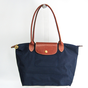 Longchamp Le Pliage 2605 089 556 Women's Nylon,Leather Handbag Brown,Navy