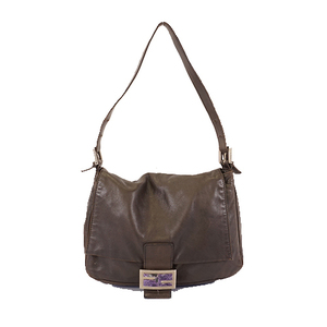 Fendi Mamma Bucket Women's Leather Shoulder Bag Dark Brown