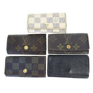 ルイ・ヴィトン(Louis Vuitton) モノグラム 5点セット ミュルティクレ4 レザー キーケース ブラウン
