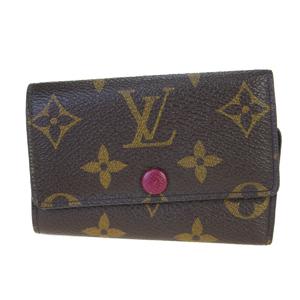 ルイ・ヴィトン(Louis Vuitton) モノグラム ミュルティクレ6 M60701 PVC キーケース フューシャ