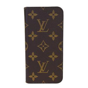 ルイ・ヴィトン(Louis Vuitton) モノグラム iPhoneX フォリオ M63443 PVC 手帳型/カード入れ付きケース iPhone X 対応 ブラウン