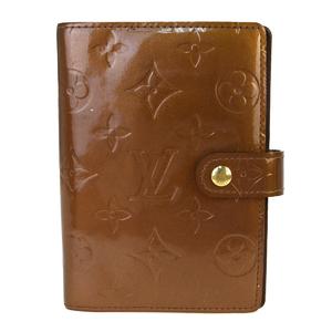 ルイ・ヴィトン(Louis Vuitton) モノグラムヴェルニ 手帳 ブロンズ アジェンダ PM R21004