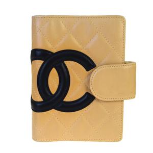 シャネル(Chanel) カンボン 手帳 ベージュ CClogo