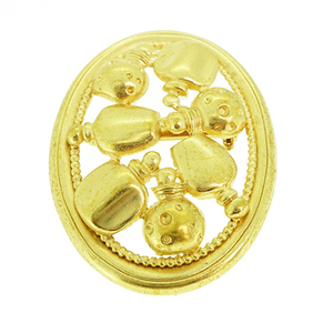 Christian Dior Brooch Perfume Bottle Motif Gold Plating Brooch Gold