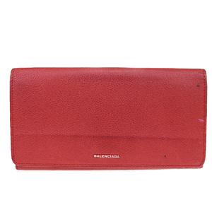 バレンシアガ(Balenciaga) レザー 長財布(二つ折り) レッド