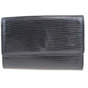 ルイ・ヴィトン(Louis Vuitton) エピ ミュルティクレ 6 レザー キーケース ノワール